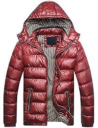 MU CHAO Abrigo de algodón de Invierno de los Hombres Ultra Ligero  styleteenager Ropa de algodón 3960a9d72608a