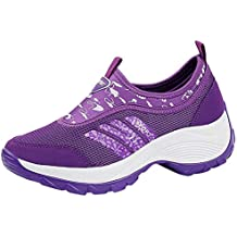 Logobeing Zapatos Mujer Botines Mujer Botas Moda Mujer Gimnasia Carta Transpirable Corriendo Zapatillas Deportivas Zapatos Aire