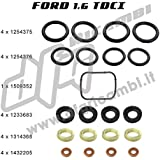 Kit Juntas + arandelas Inyectores Ford Citroen Peugeot Volvo 1.6TDCI/HDI