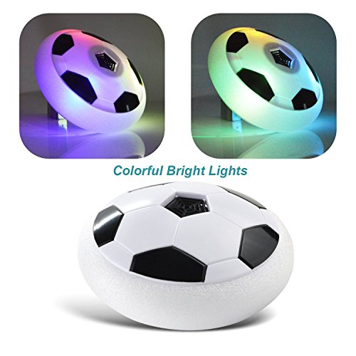 Vibgyor Vibes Indoor Outdoor Air Power Soccer Hover Disk Ultraglow with Foam Bumpers and Light Up LED Lights -Best Birthday Gift