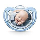 NUK Freestyle Fotoschnuller zum selbst Gestalten, Silikon, BPA-frei, (0-6 Monate, Blau), myNUK1017P
