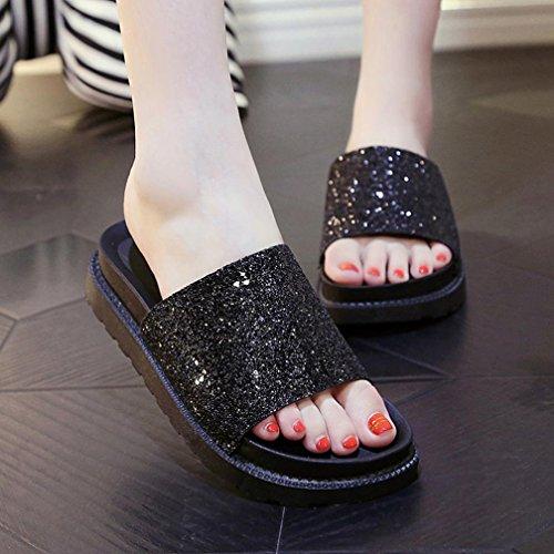 Senhoras Roman Verão Falhanços Webla Aleta De Pretos Sapatos Sandálias toe Baixo Peep rUrvqz