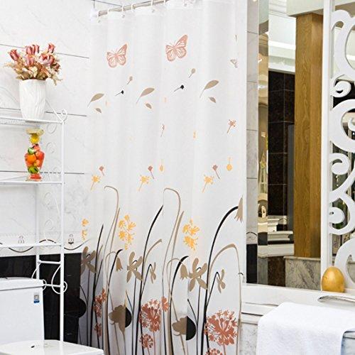 chenyu PEVA-Duschvorhänge, wasserdicht Schimmelresistent halbtransparent Badezimmer Vorhang mit Haken, 150*180cm