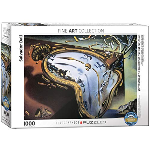 "Eurographics ""Salvador Dali Soft Watch at Moment of First Explosion Melting Clock"" Puzzle, Motiv: Schmelzende Uhr von Dali (1.000 Teile, Mehrfarbig) -"