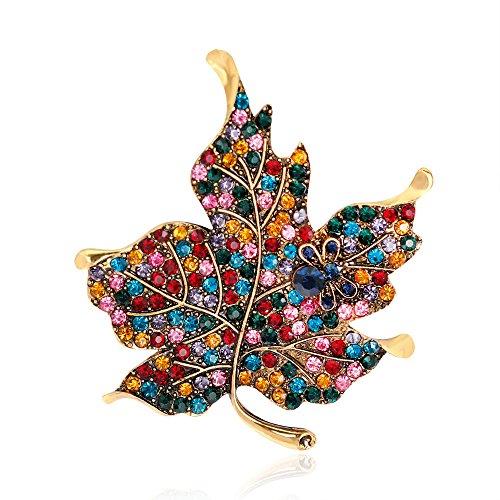 SYDDD Farbe Mosaik Diamant Ahorn Kleidung Zubehör Brosche