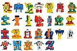 Amazemarket Kinder Geschenk beschwichtigen Spielzeuge Anime Cosplay Sammlung Roboter Mini Puzzle Ziffer Alphabet Transformation Kleinkinder Aufklärung lehrreich (kein Kasten)