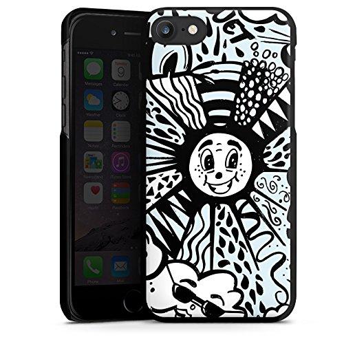Apple iPhone X Silikon Hülle Case Schutzhülle Wolken Himmel Sonne Hard Case schwarz
