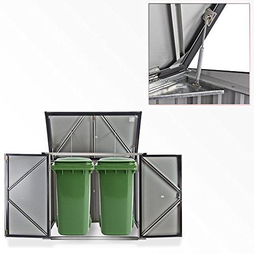 Duramax 5x 3ft Mülleimer Store–Anthrazit Grau/aus weiß - 4