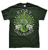 Rory Gallagher Dunkelgrün T-Shirt, Größe L