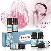 Skymore Top 6 Set de Aceites Esenciales, Regalo de San Valentín, Aceite 100% Aromatherapy para Difusor, Aceite Terapéutico de Aceite Esencial, Ideal para Dormir, Respirar, Relajarse, Refrescarse, Inmunidad, Descompresión