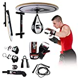 13PC Speed Ball Platform Set, Adjustable Stand, Bracket Boxing Gloves