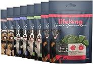 Amazon-Marke: Lifelong - Hundeleckerli, ohne Weizen mit Mono-Proteinquelle- gemischte Auswahl & Superfood