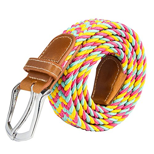 ayg-mens-elastic-fabric-woven-stretch-belt-cowhide-leather-for-36-48-waist-12-color
