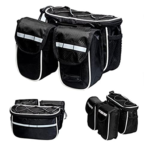 Bike Bags, ADiPROD Bike Bicycle Cycling Mountain Frame Front Tube Pannier Saddle Bag Tube Pouch