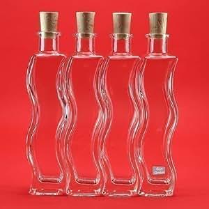 6 x 200ml flaschen glasflaschen onda lik rflaschen schnapsflaschen essigflaschen lflaschen. Black Bedroom Furniture Sets. Home Design Ideas