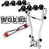 Fahrradträger von Thule zur Befestigung an der Anhängevorrichtung, für 4 Fahrräder, inkl. Anhänger-Lichtleiste, 9708