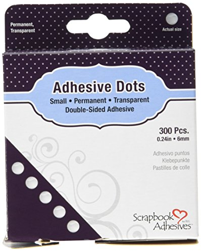 Toga AC93 Lot de 300 pastilles adhésives Double-Face, Transparent, 9 x 11,5 x 2,5 cm