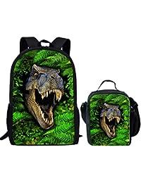 Showudesigns Cool borsa termica con stampa animale per scuola bambini ragazzi verde, Poliestere, Animal 2 Set, small