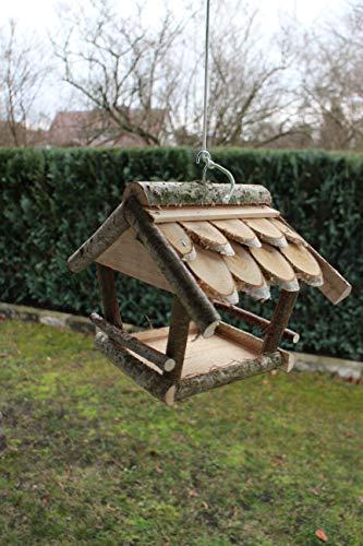 Marcus´ Weidenhandel Vogelhaus Vogelhäuschen Futterhaus Futterhäuschen Vogelhaus Vogelvilla Birke Holz Natur NEU