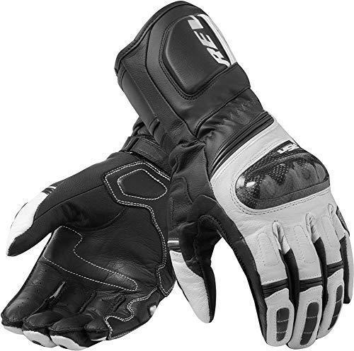 4 Farbe Langer Abschnitt der Carbon-Leder-Lederhandschuhe/Motorrad-Männer-Handschuhe voller Finger -