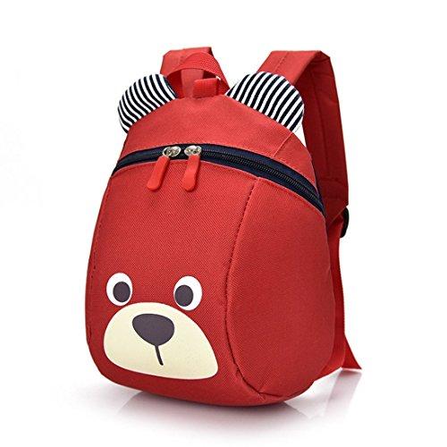 Kindergartenrucksack Babyrucksack kinder Süß Cartoon RucksackSchuletaschen Backpackfür Jungen Mädchen (Rot)