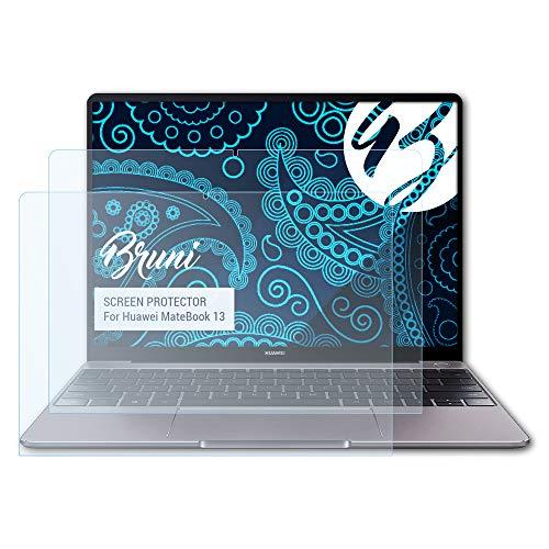 Bruni Schutzfolie kompatibel mit Huawei MateBook 13 Folie, glasklare Bildschirmschutzfolie (2X)