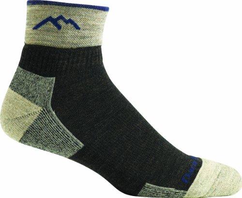 Darn Tough Vermont Herren Merino Wolle 1/4Socke Kissen, Herren, schokoladenbraun (1/4 Sock Coolmax)