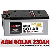 SOLAR AGM 230Ah Versorgungsbatterie Solarbatterie Boot Wohnmobil Mover zyklenfest
