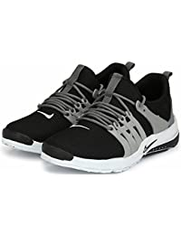 Maddy Men's Black Grey Sports Running Shoes