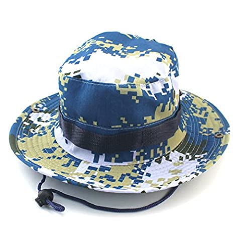 OUMIZHI Boonie Bucket Hat Military Fishing Camping Chasse Wide Brim Bucket Hommes Outdoor Sun-shading Sun Hat Travel Cap Cap de pêche