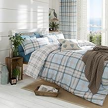 Catherine Lansfield CL Kelso Duckegg - Juego de funda nórdica para cama de 105 cm