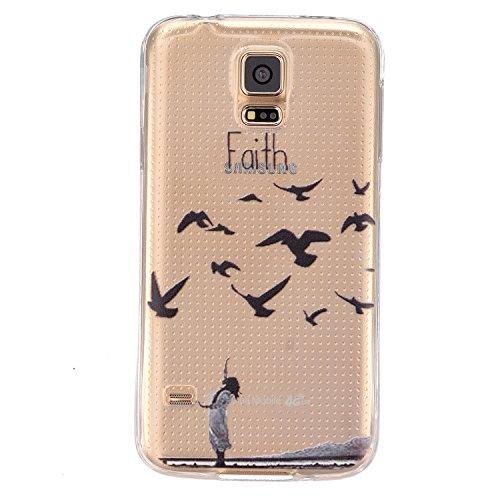 Rückseite Logo One Piece (Cozy Hut Samsung Galaxy S5 Hülle Case TPU Schutzhülle | Perfekte Passform | Crystal Case | Hülle | Cover | Tasche | Crystal – Clear | Etui | Silikon | Case | Schutz-Hülle | Durchsichtig Silikon transparent Samsung Galaxy S5 klar Cover - Glauben)