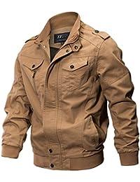 YYZYY Nouveaux Homme Printemps Automne Coton Militaire Veste Voler Bomber Blousons Outdoor Manteaux Multi-poche Mens Cotton Lightweight Jacket