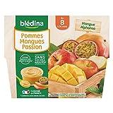 Blédina 4 Coupelles Pommes Mangues Passion dès 8 mois