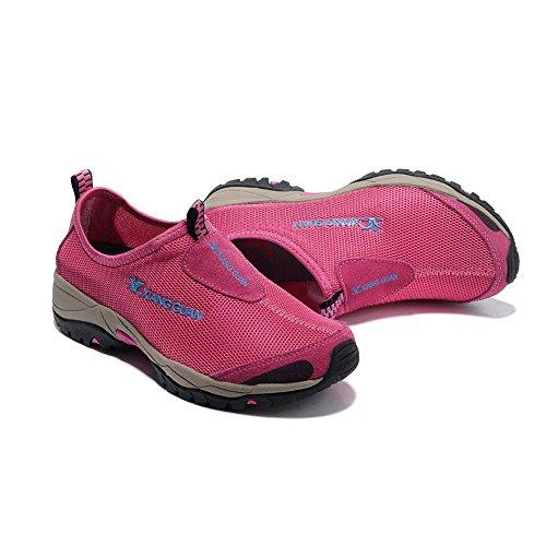 Xiang Guan Femme Mesh Respirant Outdoor Slippers Chaussures de Camping Randonnée Walking Trekking Loafers Rose