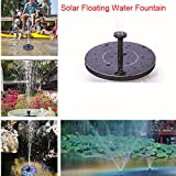 FairOnly Mini Solar Floating Water Fountain for Garden Pool Pond Decoration