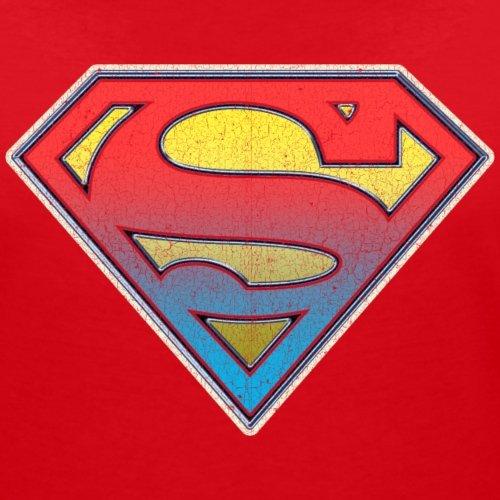 DC Comics Originals Superman Logo Dégradé T-shirt col V Femme de Spreadshirt® Rouge