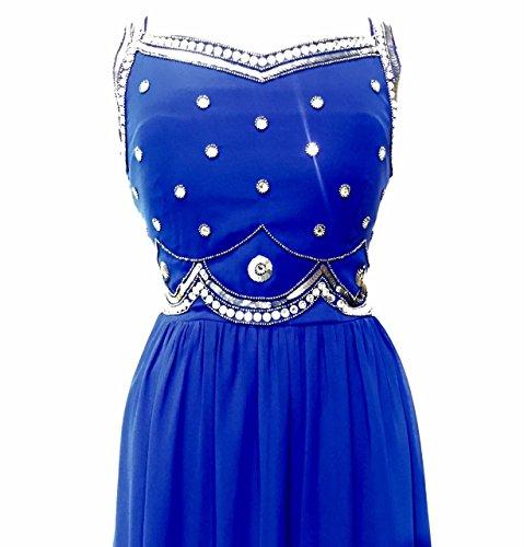 Damen verschönert blau maxi kleid Abendkleid Blau Blau -clockwork ...