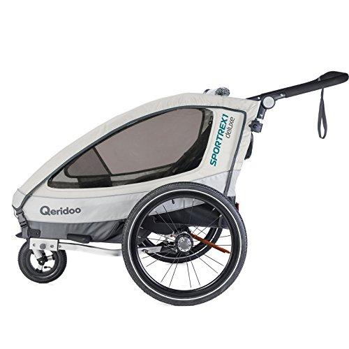 Qeridoo Sportrex 1 Deluxe Kinderanhänger 2018, Farbe:weiß - 2