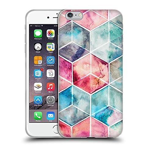 Offizielle Micklyn Le Feuvre Hexagon Kuben Muster 6 Soft Gel Hülle für Apple iPhone 6 Plus / 6s Plus