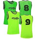 athletikor 12 Fußballleibchen mit Rückennummern - Trainingsleibchen - Leibchen -