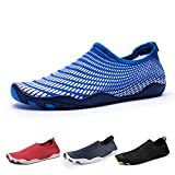 IceUnicorn Water Shoes Mens Womens Quick Dry Sports Aqua Shoes Unisex Swim Shoes with 14 Drainage Holes for Swim,Walking,Yoga,Lake,Beach,Garden,Park,Driving,Boating(Blue-GZ,10.5UK/45EU)