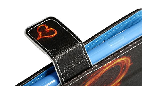 Apple iPhone 6s Leder Hülle,Ekakashop iPhone 6 Soft Painted Ledertasche Flip Case Wallet Cover im Bookstyle Stand Lederhülle Handyhülle Schale Silicone Back Bumper ,Kreativ Design Firefly Muster Prote Liebe Feuer