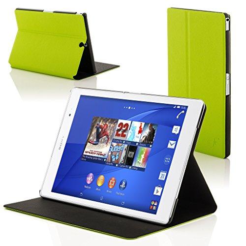 z3 tablet compact Forefront Cases Sony Xperia Z3 Tablet Compact 8 inch SGP611 Smart Custodia Caso Case Cover Conchiglia - Ultra Sottile con Protezione Dispositivo Completa e funzione Auto Sveglia Sonno (Verde)