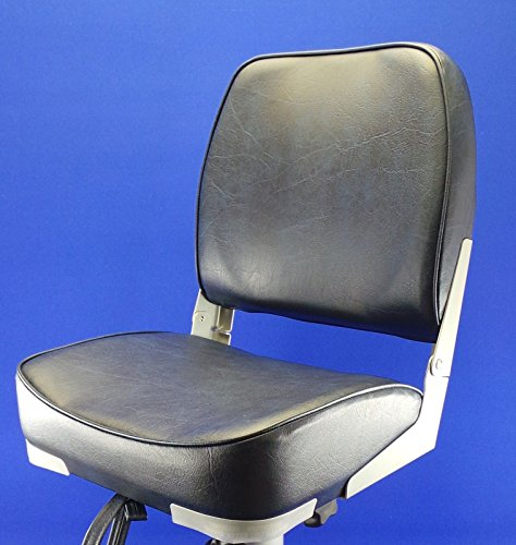 Quality Folding Navy Blue Boat Helm Seat - Speed Boat Fishing - New Test