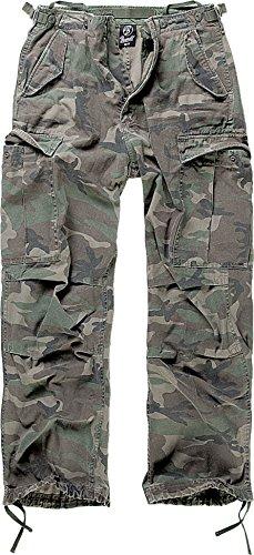Brandit M65 Hose Woodland XXL - Herren Doppel Kostüm