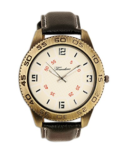 Timebre Mens White Casual Analog Watch-012 image