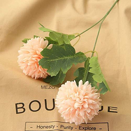 QYYDGH Retro Elegante schöne 2 Köpfe Künstliche Blumen Löwenzahn Langen Stiel Zweig Faux Hyazinthe Lebendige Seide Gefälschte Blumen Hochzeit Festival Hauptdekorationen Champagner -