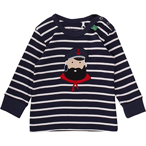 Fred's World by Green Cotton Baby-Jungen T-Shirt Stripe Captain T Baby, Blau (Navy/Cream 019800002), 86 (Cotton Stripe Herren)