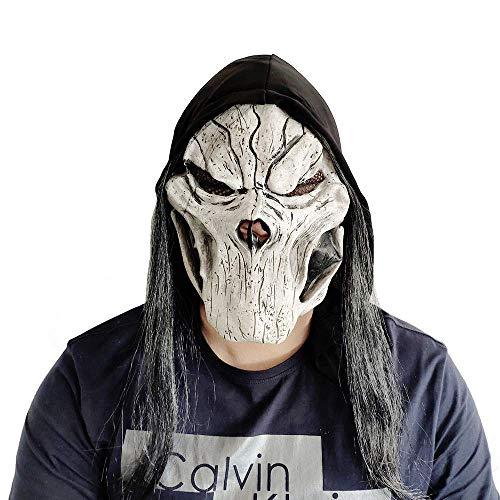 WEICHENG Halloween Maske Latex Gummi Grusel Horror Kostüm Cosplay Requisiten Kopfmaske für Erwachsene Party Festivals Dekoration
